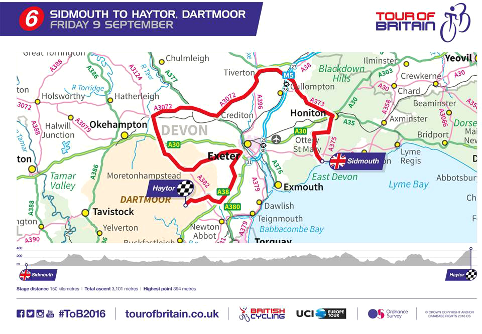 Sidmouth to Haytor cycle ride